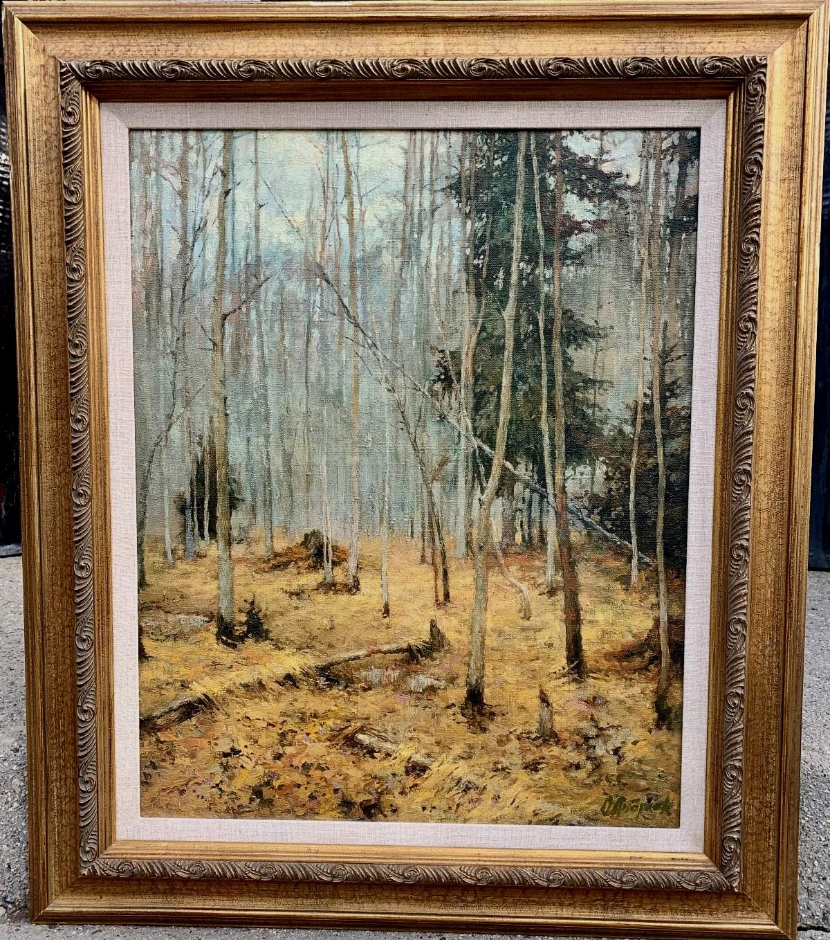 """Forest in Autumn Framed"""