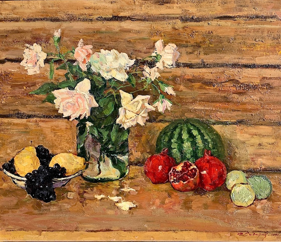 F. Sidorov Roses and Fruit
