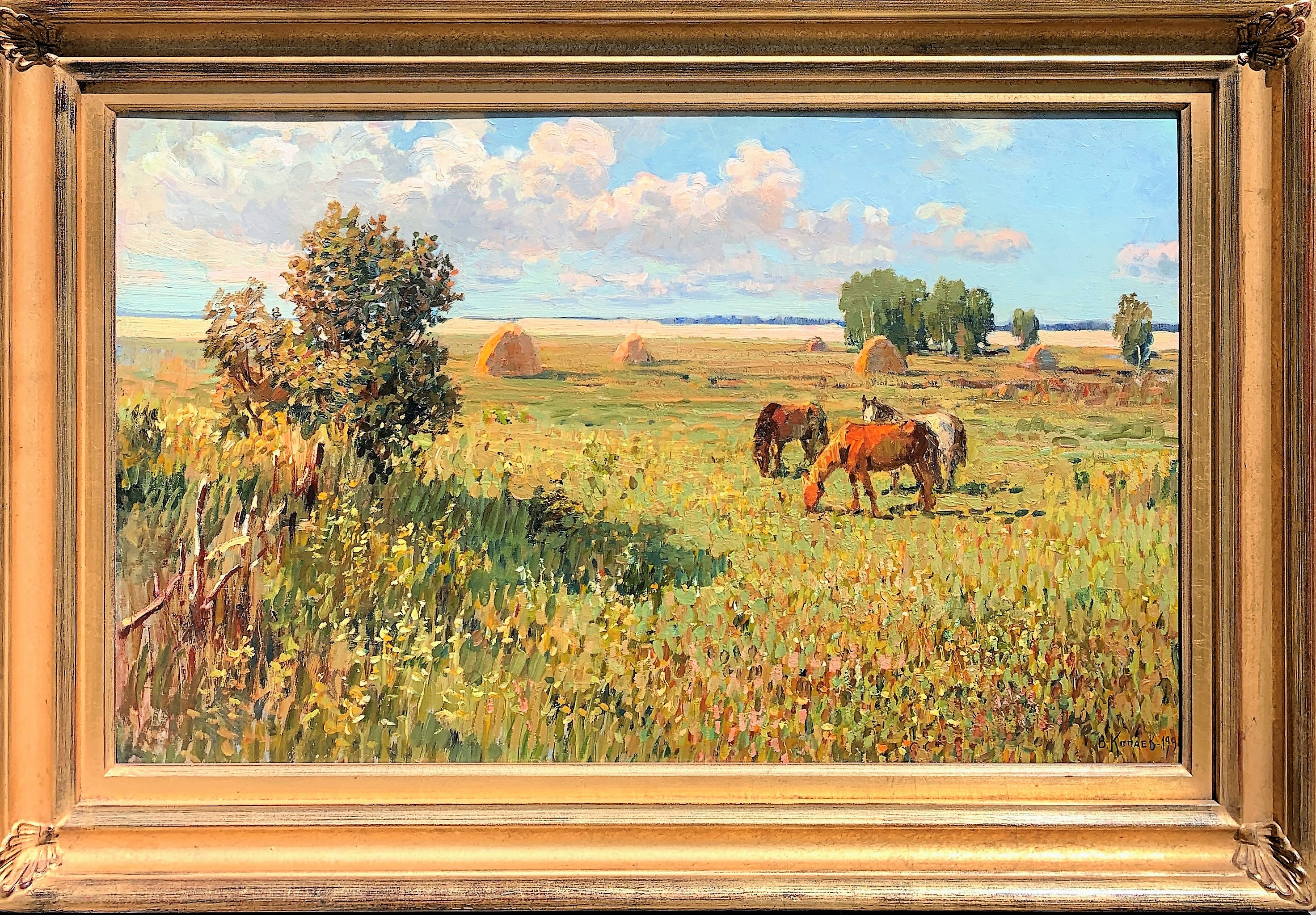 "Kopayev. ""Village End"", framed"